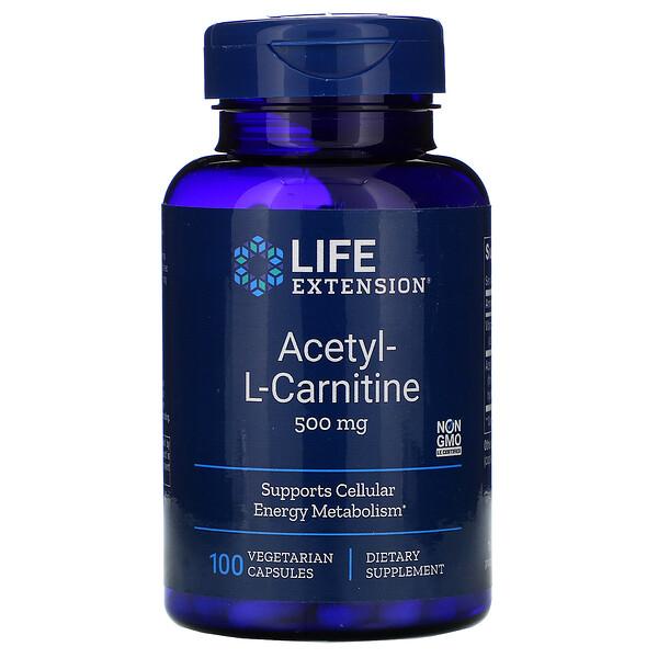 Ацетил-L-Карнитин, 500 мг, 100 капсул