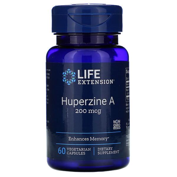 Huperzine A, 200 mcg, 60 Vegetarian Capsules