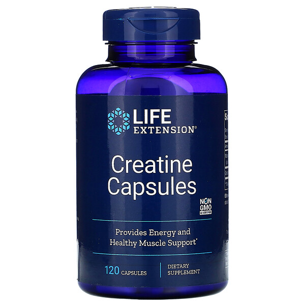 Life Extension, Creatine Capsules, 120 Capsules
