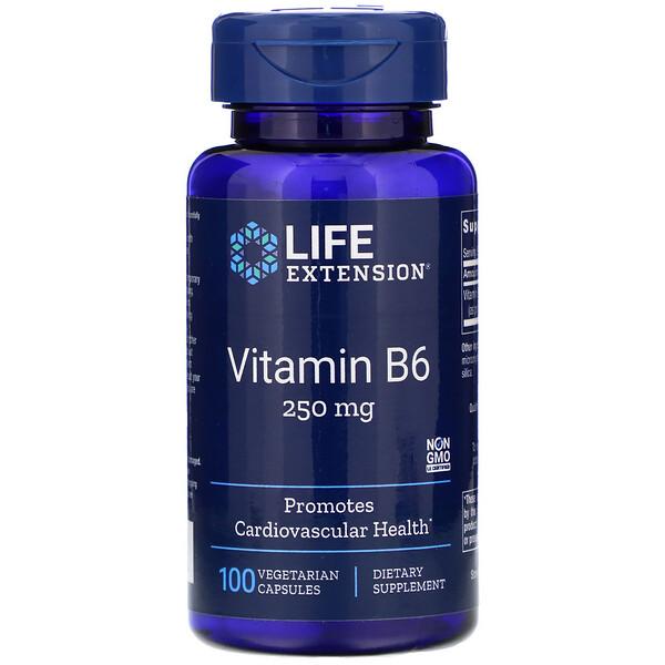 Витамин В6, 250 мг, 100 вегетарианских капсул
