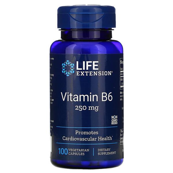 витаминB6, 250мг, 100вегетарианских капсул
