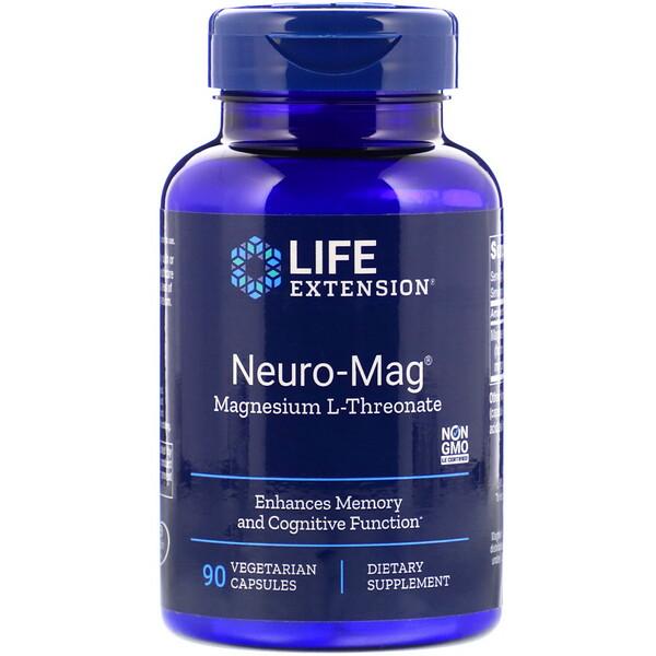 Neuro-Mag, магний L-треонат, 90 капсул в растительной оболочке