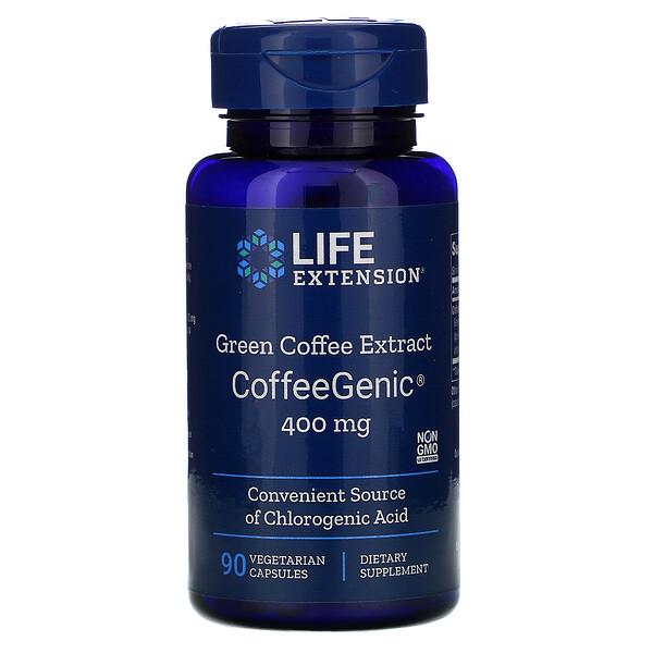 CoffeeGenic, экстракт зеленого кофе 90 овощных капсул
