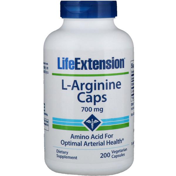L-Arginine Caps, 700 mg, 200 Capsules