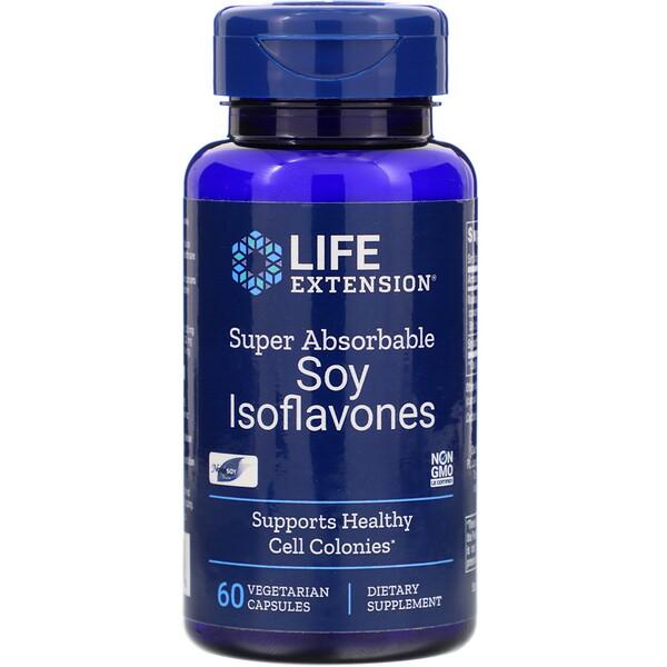 Соевые изофлавоны, суперусвояемость, 60 вегетарианских капсул