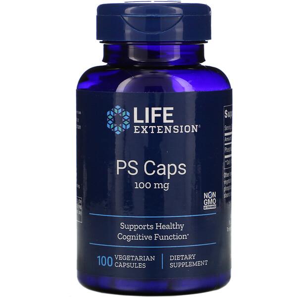 PS Caps, 100 mg, 100 Vegetarian Capsules