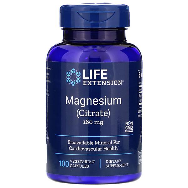 Magnesium, 160 mg, 100 Vegetarian Capsules