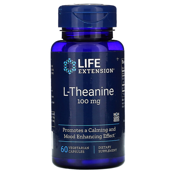 Life Extension, L-Theanine, 100 mg, 60 Vegetarian Capsules