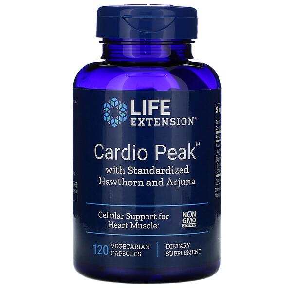 Cardio Peak со стандартизированным боярышником и арджуной, 120 вегетарианских капсул