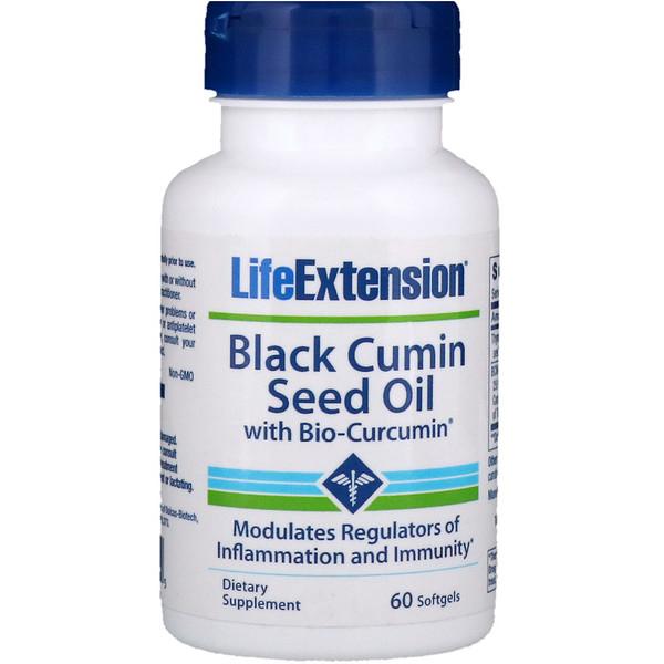 Life Extension, Масло семени черного тмина с биокуркумином, 60 мягких таблеток (Discontinued Item)