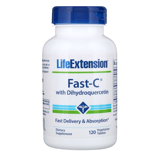Life Extension, Fast-C with Dihydroquercetin, 120 Vegetarian Tablets (Discontinued Item)