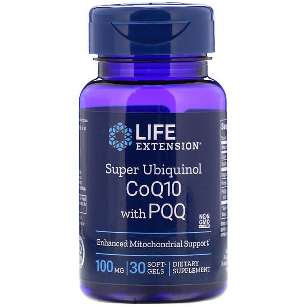 Супер убихинол CoQ10 c пирролохинолинхиноном, 100мг, 30 мягких желатиновых капсул