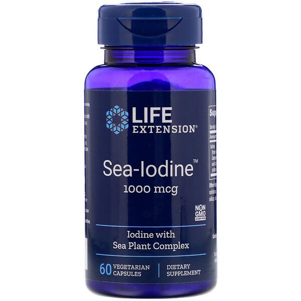 Sea-Iodine, Йод, 1000 мкг, 60 вегетарианских капсул