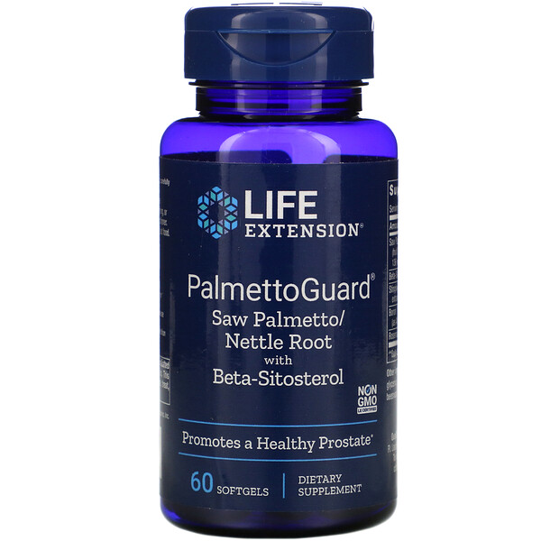 PalmettoGuard Saw Palmetto/Nettle Root with Beta-Sitosterol, 60 Softgels