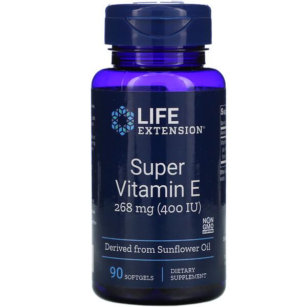 Супер витамин Е, 400 МЕ, 90 гелевых капсул