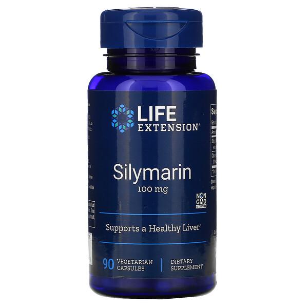 Силимарин, 100 мг, 90 вегетарианских капсул