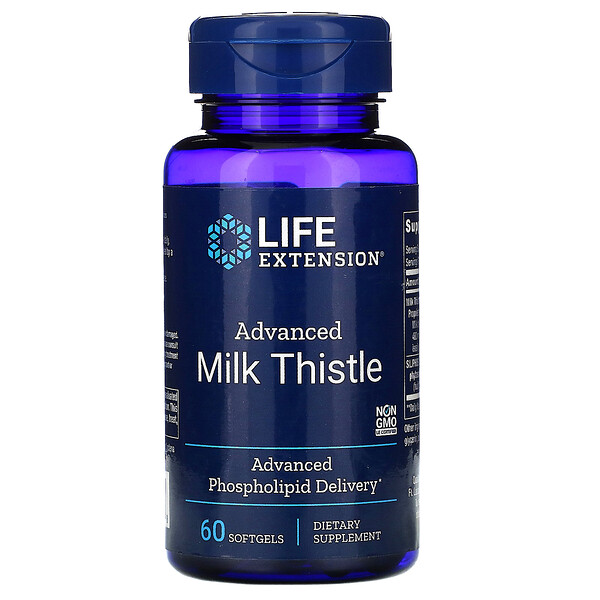 Life Extension, Advanced Milk Thistle, 60 Softgels