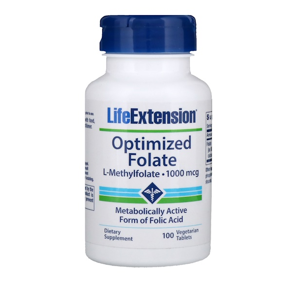 Optimized Folate, 1,000 mcg, 100 Vegetarian Tablets
