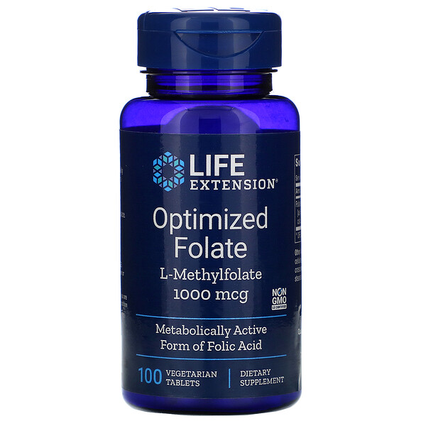Optimized Folate, 1,000 mcg, 100 Vegetarian Tablets