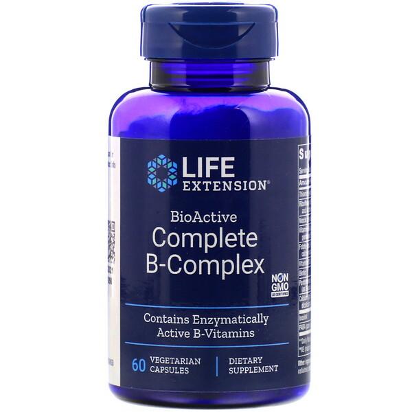 Life Extension, Биоактивный комплекс витаминов группыB, 60вегетарианских капсул