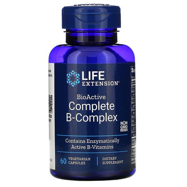 полный биоактивный комплекс витаминов группыB, 60растительных капсул