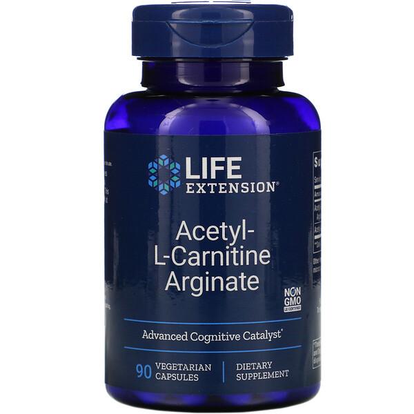 Acetyl-L-Carnitine Arginate, 90 Vegetarian Capsules
