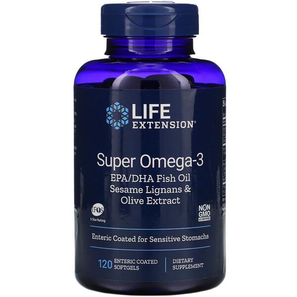Super Omega-3, 120 Enteric Coated Softgels
