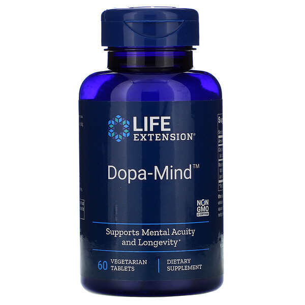 Life Extension, Dopa-Mind, 60 вегетарианских таблеток