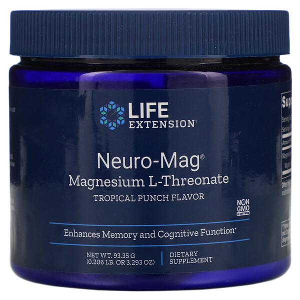 Neuro-Mag, L-треонат магния, со вкусом тропического пунша, 93,35 г (3,293 унции)