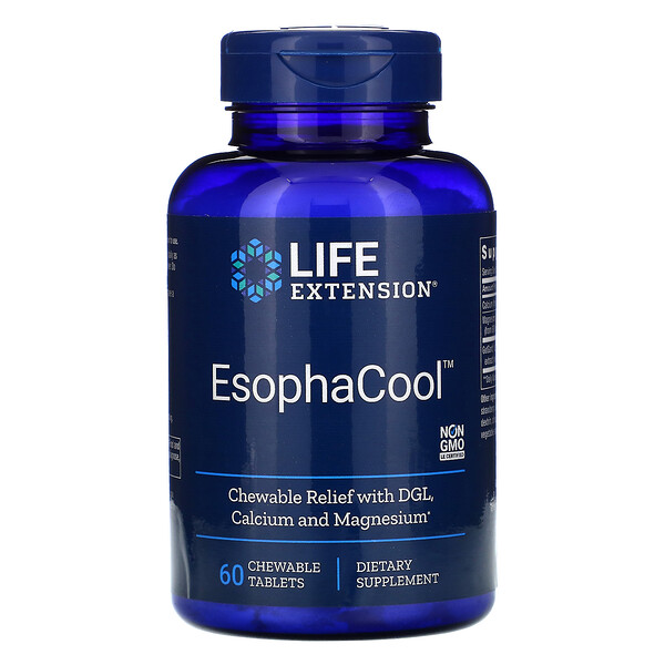 EsophaCool, 60 Chewable Tablets