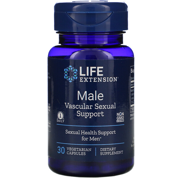 Life Extension, Male Vascular Sexual Support, 30 Vegetarian Capsules