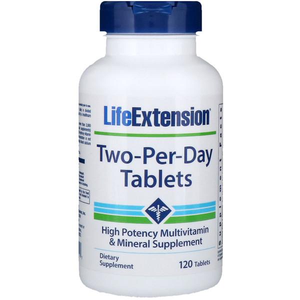 Life Extension, Таблетки типа «две в день», 120 таблеток (Discontinued Item)
