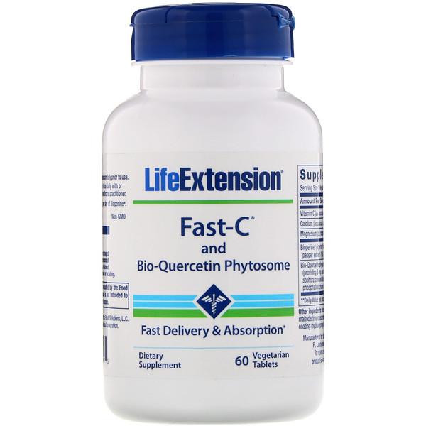 Fast-C с фитосомами биокверцетина, 60вегетарианских таблеток
