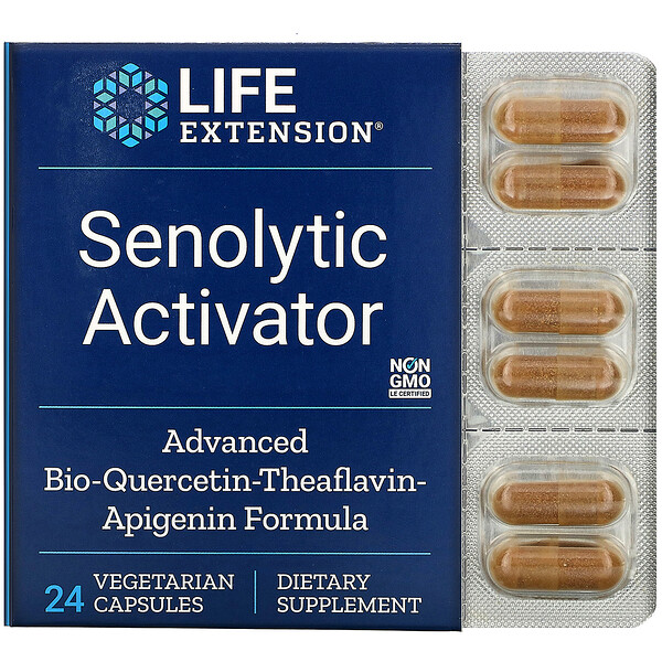 Life Extension, Senolytic Activator, 24 Vegetarian Capsules