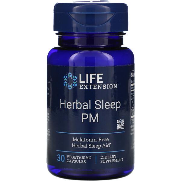 Herbal Sleep PM, 30вегетарианских капсул