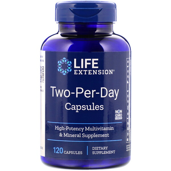 Life Extension, Капсулы Дважды-в-день, 120капсул