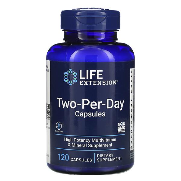 Life Extension, капсулы для приема дважды в день, 120капсул