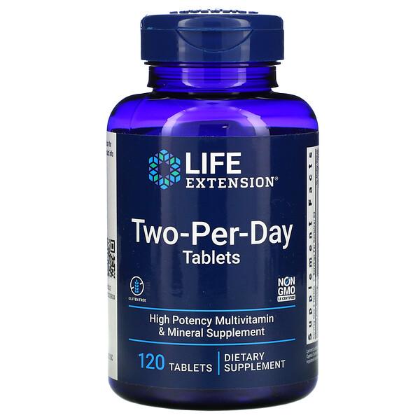 Life Extension, таблетки для приема дважды в день, 120таблеток