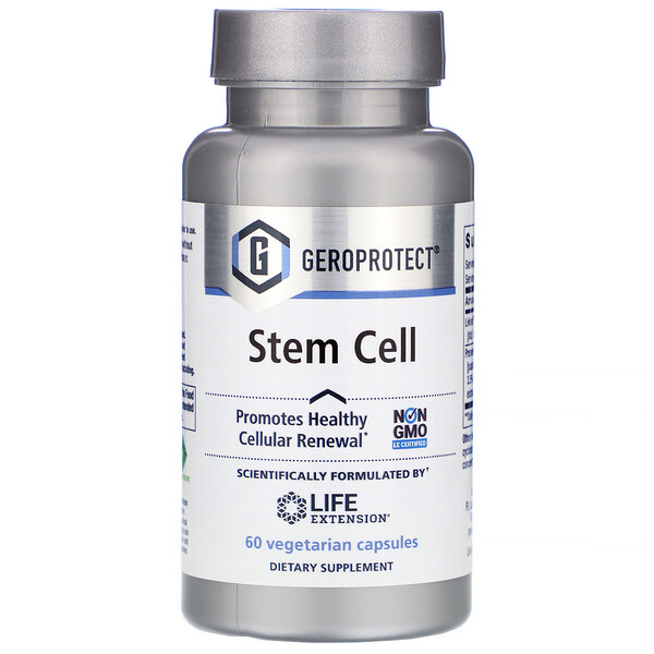 Life Extension, Geroprotect, Stem Cell, 60 Vegetarian Capsules