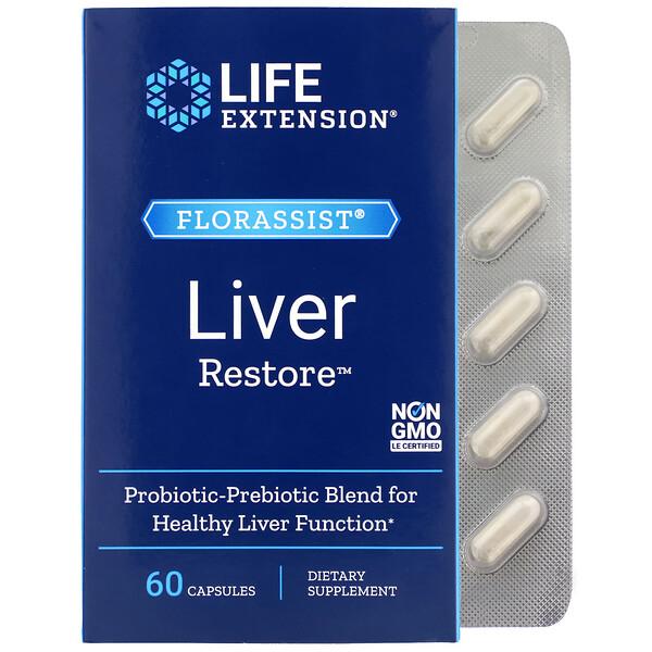 Life Extension, FLORASSIST Liver Restore, 60 Capsules