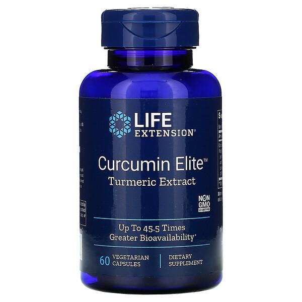 Curcumin Elite, экстракт куркумы, 60растительных капсул