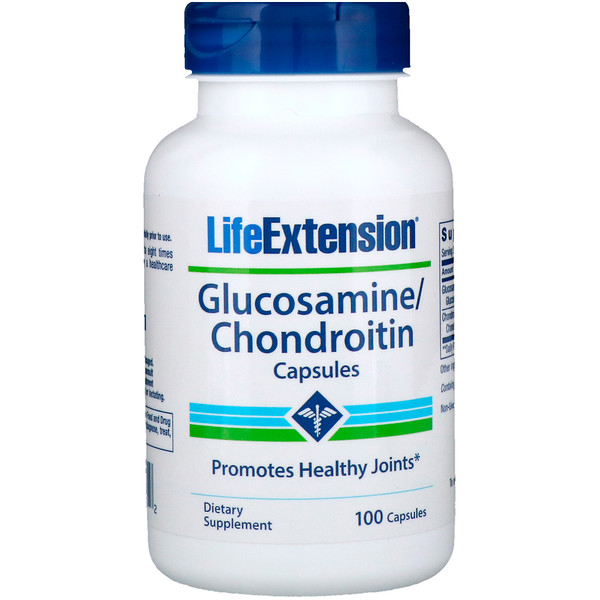 Капсулы с глюкозамином и хондроитином, 100 капсул