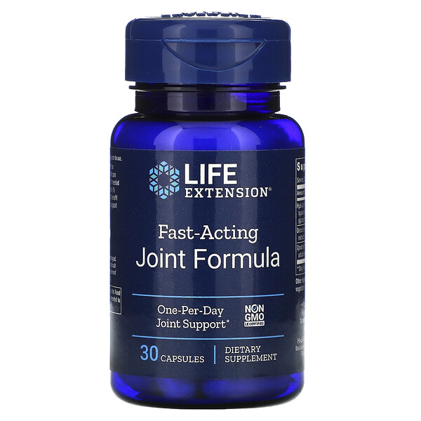 Life Extension, Быстродействующая формула для суставов, 30 капсул