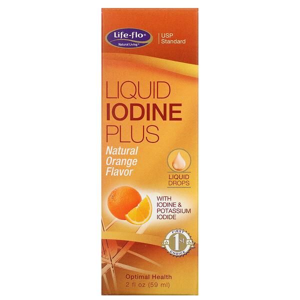 Жидкий йод плюс натуральный вкус апельсина,  2 жид.унции(59 мл)
