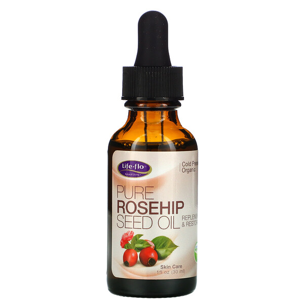 чистое масло семян шиповника, уход за кожей, 30мл (1унция)