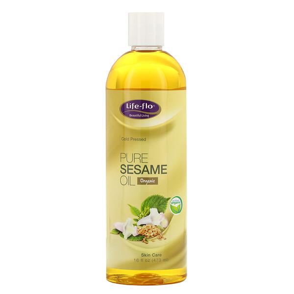 Чистое кунжутное масло для ухода за кожей, 473 мл (16 жидких унций)