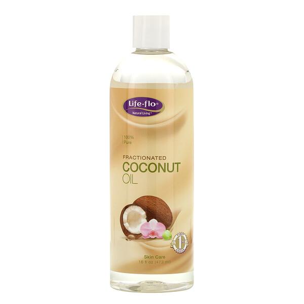 Life-flo, Средство для ухода за кожей, Фракционированное кокосовое масло, 16 жидких унций (473 мл)