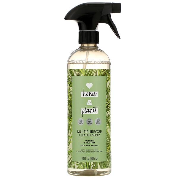 Love Home & Planet, Multipurpose Cleaner Spray, Vetiver & Tea Tree, 23 fl oz (680 ml) (Discontinued Item)