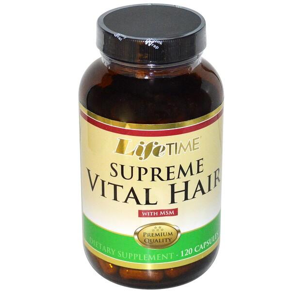 Supreme Vital Hair с MSM, 120 капсул
