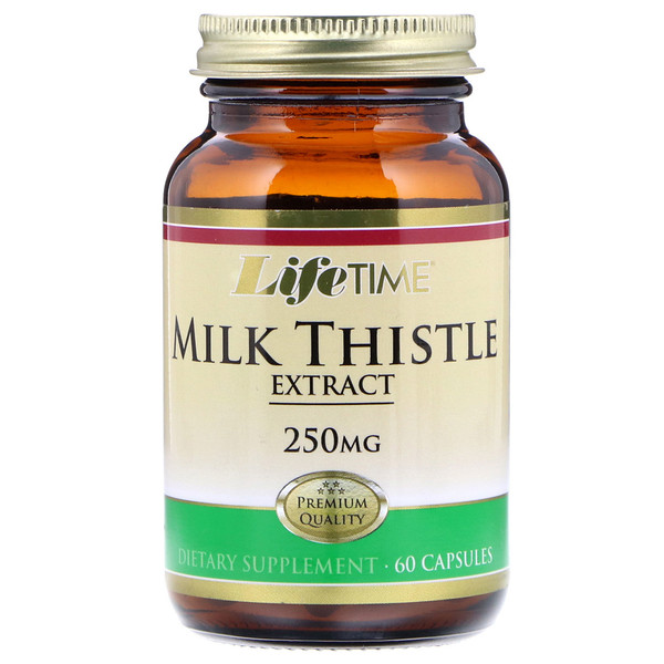 LifeTime Vitamins, Milk Thistle Extract, 250 mg , 60 Capsules (Discontinued Item)